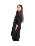 Italian Batwing Sequin Star High Low Cotton Lagenlook Top-Black 5