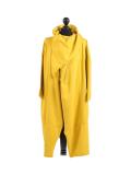 Italian Cowl Neck Plus Size Cotton Lagenlook Cardigan-Mustard
