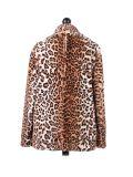 Italian Leopard Print Front Button Lagenlook Coat-White back