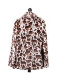 Italian Leopard Print Notched Lapels Lagenlook Coat-White back