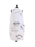 Italian Made Writing Print Sleeveless Linen Lagenlook Dress-White back