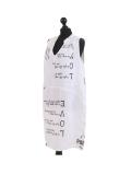 Italian Made Writing Print Sleeveless Linen Lagenlook Dress-White side