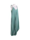 Italian Plain Cami Strappy Side Pocket Lagenlook Jumpsuit-Tiffany