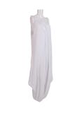 Italian Plain Cami Strappy Side Pocket Lagenlook Jumpsuit-White