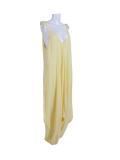 Italian Plain Cami Strappy Side Pocket Lagenlook Jumpsuit-Yellow