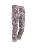 Italian Side Glittery Stripes Leopard Print Stretchable Trouser-Pink