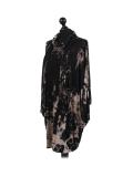 Italian Tie & Dye Plus Size Lagenlook Scarf Dress-Black side