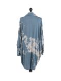 Italian Tie & Dye Plus Size Lagenlook Scarf Dress-Denim back