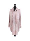 Italian Tie & Dye Plus Size Lagenlook Scarf Dress-Pink