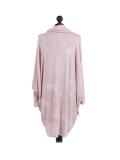 Italian Tie & Dye Plus Size Lagenlook Scarf Dress-Pink back