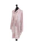 Italian Tie & Dye Plus Size Lagenlook Scarf Dress-Pink side
