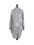 Italian Tie & Dye Plus Size Lagenlook Scarf Dress-Silver back