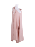 Italian V- Neck Plain Linen Lagenlook Jumpsuit -pink