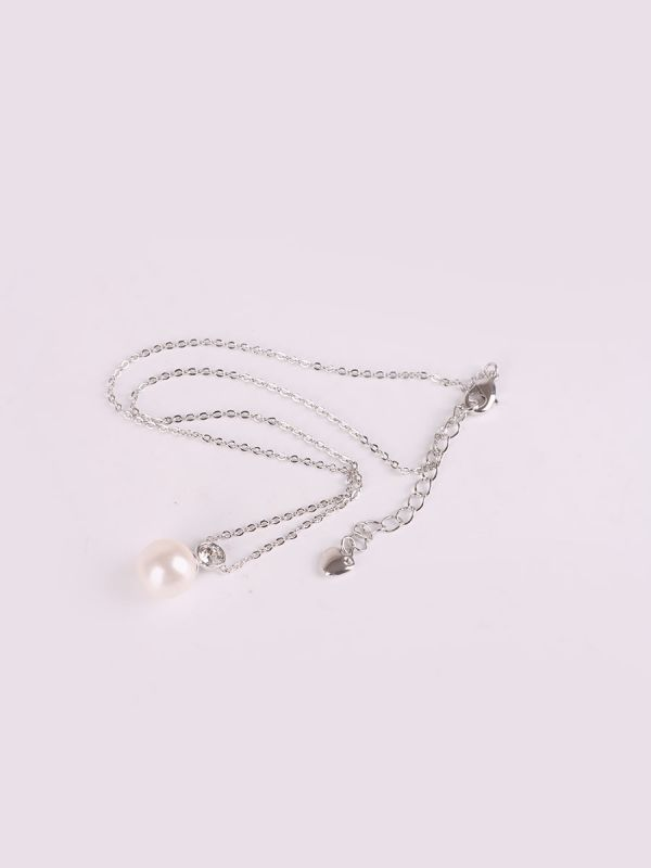 Rhodium Plated Crystal Necklace-1