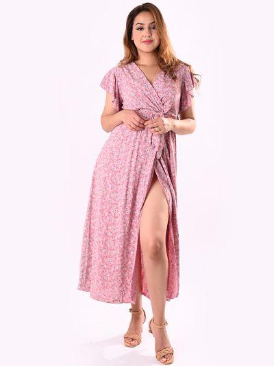 Italian Classic Floral Print Waist Belt Lagenlook Sun Dress