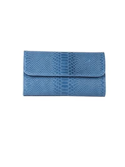 Italian Faux Croc Handmade Leather Clutch Bag