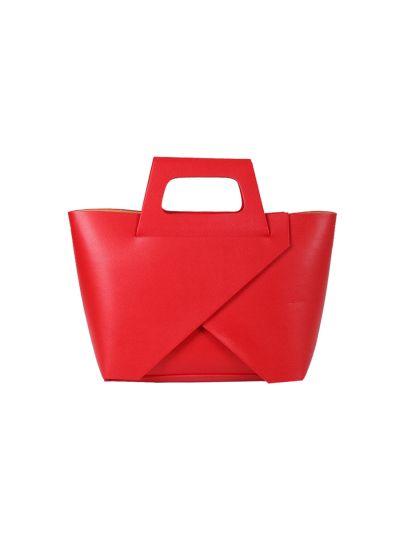 Italian Handmade 2 Piece Leather Hand Bag