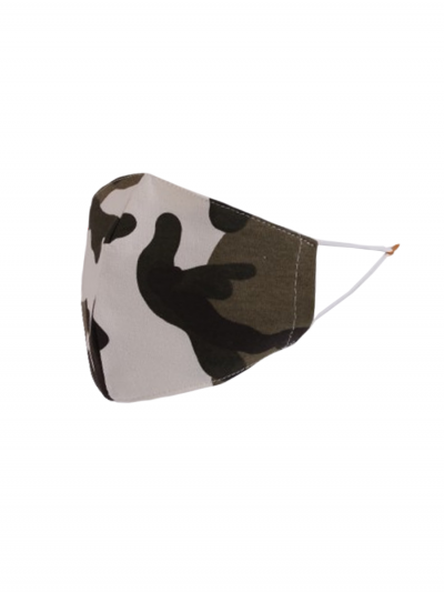 Italian Made Camouflage Print Cotton Face Mask (PACK OF 5)