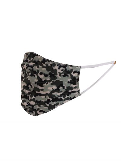 Italian Made Camouflage Print Washable Cotton Face Mask (PACK OF 5)