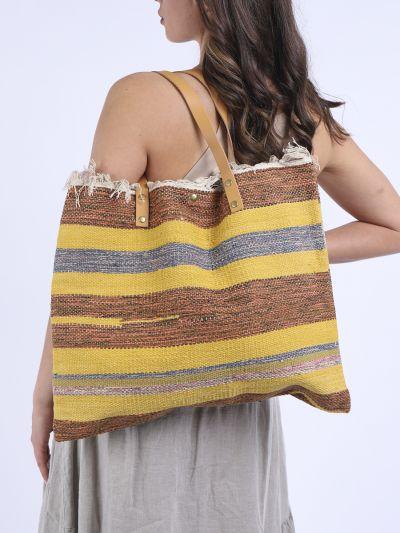 Italian Multi Stripes Canvas Tote Bag (Pack of 5)