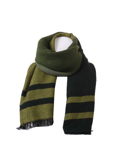 Italian Multicolor Stripy Woolen Scarf