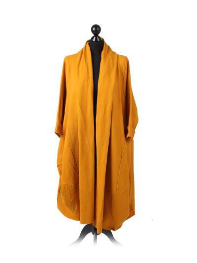 Italian Open Front Plus Size Cotton Lagenlook Cardigan