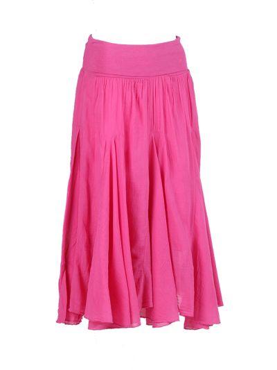 Italian Plain Cotton Skirt