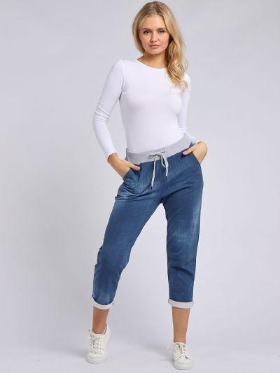 Italian Plain Loose Pockets Cotton Ladies Trouser