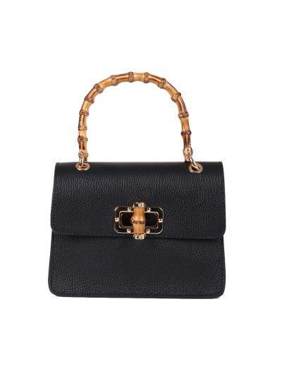 Italian Plain Suedette Leather Hand Bag
