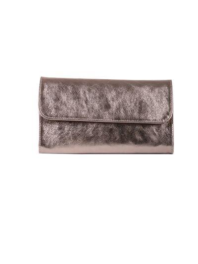 Italian Shiny Leather Handmade Clutch Bag