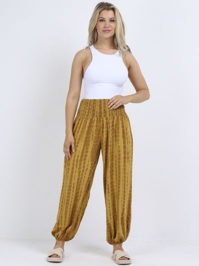 Italian Tie And Dye Print Ladies Harem Trouser
