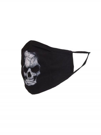 Made In Italy Scary Halloween Skull Print Cotton Face Mask (PACK OF 5)