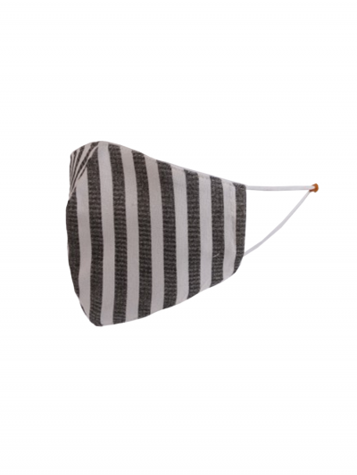 Made In Italy Stripy Print 2 Layered Cotton Face Mask (PACK OF 5)