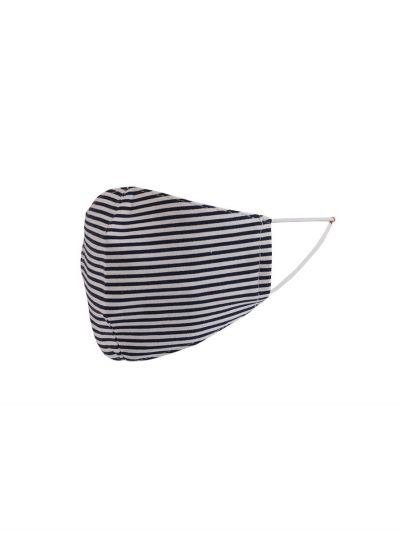 Made In Italy Stripy Print Unisex Reuseable Cotton Face Mask (PACK OF 5)