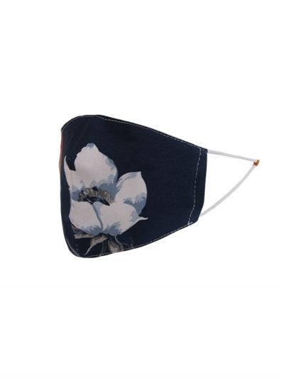 Made In Italy Tulip Print Cotton Denim Face Mask (PACK OF 5)