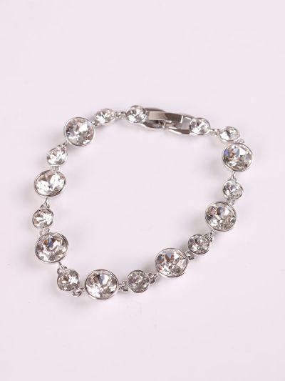 Rhodium Plated Crystal Bracelet