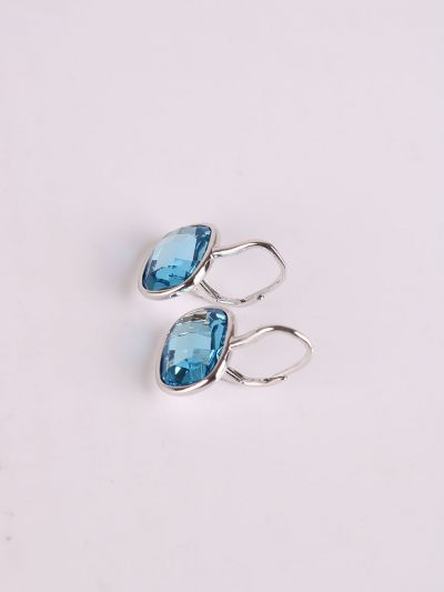 Rhodium Plated Crystal Earrings